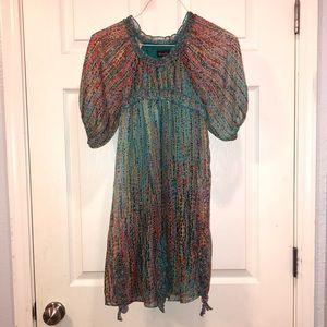 Hannah Banana Multicolored Short Sleeve Dress